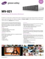 MV-821: Space-Saving 2 RU Standalone Multiviewer Datasheet