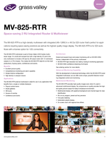 MV-825-RTR: Space-Saving 2 RU Integrated Router & Multiviewer Datasheet