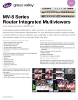 MV-8 Series Router Integrated Multiviewers: Card Options for Sirius 800 Routers Datasheet