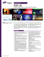ICE LE: Broadcast-Quality Playout in a High-Density IT Appliance Datasheet