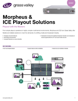 Morpheus & ICE Playout Solutions Playout with the Masters Datasheet