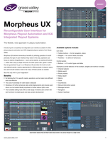 Morpheus UX: Reconfigurable User Interface for Morpheus Playout Automation and ICE Integrated Playout Systems Datasheet