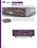 ADVC G1 A: Any In to SDI Converter and Up/Downconverter with Frame Synchronizer Datasheet