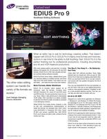 EDIUS Pro 9: Nonlinear Editing Software Datasheet