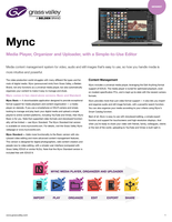 Mync v1.1: Media Player, Organizer and Uploader, with a Simple-to-Use Editor Datasheet