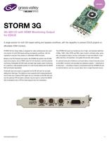STORM 3G: 3G-SDI I/O with HDMI Monitoring Output for EDIUS Datasheet
