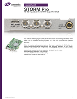 STORM Pro: HD-SDI Input/Output and HDMI Output for EDIUS Datasheet