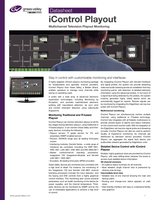iControl Playout: Multichannel Television Playout Monitoring Datasheet