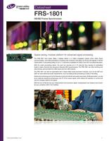 FRS-1801 HD/SD frame synchronizer Datasheet