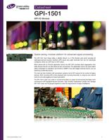 GPI-1501 GPI I/O module Datasheet