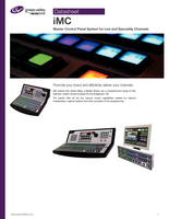 iMC: Master Control Panel System for Live and Speciality Channels Datasheet