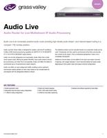 Audio Live: Audio Router for Live Multistream IP Audio Processing Datasheet
