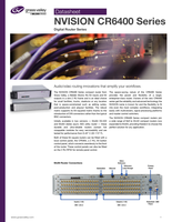 NVISION CR6400 Series: Digital Router Series Datasheet