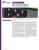 GV Convergent: IP/SDI Router Control & Configuration System Datasheet