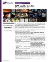 GV GUARDIAN: Remote Monitoring Application Datasheet