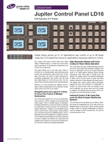 Jupiter Control Panel LD16: Full-Function X-Y Panel Datasheet