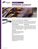 NVISION Compact: Space and Cost Efficient Utility Routers Datasheet