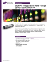 QSFP+ Pluggable Short-Range Transceiver Module (SR4): 40 Gb/s Pluggable Optical Transceiver Datasheet