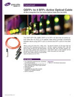 QSFP+ to 4 SFP+ Active Optical Cable: 40 Gb/s Integrated Fan Out Active Optical Cable (Fan Out AOC)Datasheet