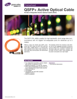 QSFP+ Active Optical Cable: 40 Gb/s Integrated Active Optical Cable (AOC) Datasheet