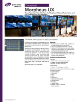Morpheus UX: Reconfigurable User Interface for Morpheus Playout Automation and ICE Channel-in-a-Box Systems Datasheet