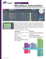 Morpheus Automation: Scalable Playout Automation for Multichannel and Multiscreen Environments Datasheet