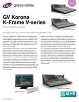 GV Korona K-Frame V-series: Video Production Center Datasheet