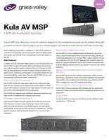 Kula AV MSP: 1 M/E HD Production Switcher Datasheet