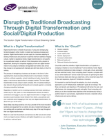 GV Alyve: Disrupting Traditional Broadcasting Through Digital Transformation and Social/Digital Production Whitepaper