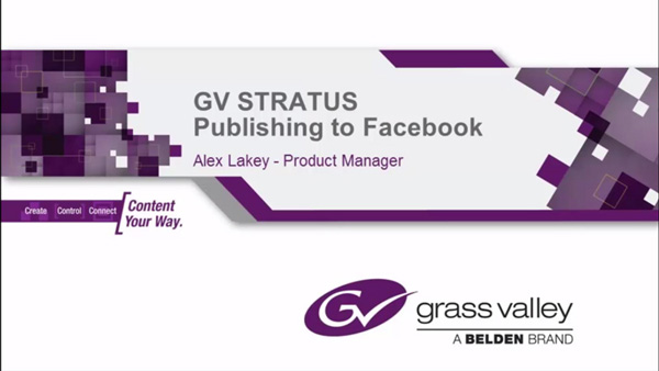 GV STRATUS Publishing Content to Facebook