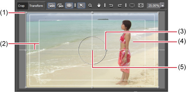 Transformingrotating video reflect edited parameter details in the preview you can also edit parameters by dragging handles inside the preview ccuart