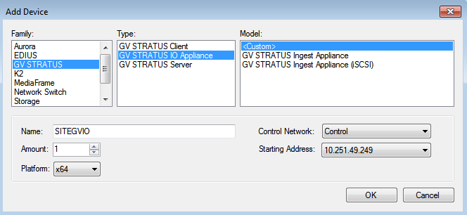 Adding a GV I/O Ingest Appliance to the system description
